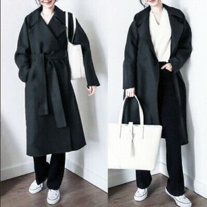 Uniqlo U double face wrap coat
